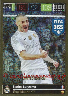 2015-16 - Panini Adrenalyn XL FIFA 365 - N° LE-KB - Karim BENZEMA (Real Madrid CF) (Limited Edition)
