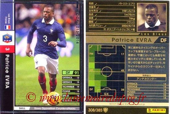 2013-14 - WCCF - N° 308 - Patrice EVRA (France)