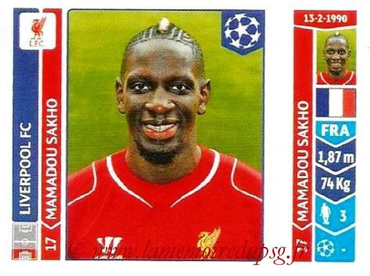 2014-15 - Panini Champions League N° 156 - Mamadou SAKHO (Liverpool FC)
