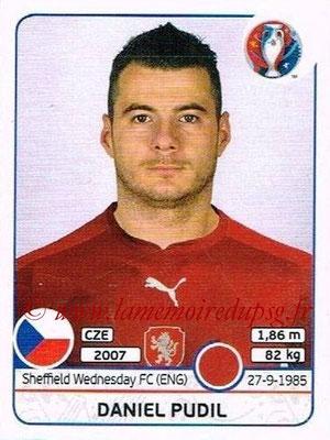 Panini Euro 2016 Stickers - N° 388 - Daniel PUDIL (République Tchèque)