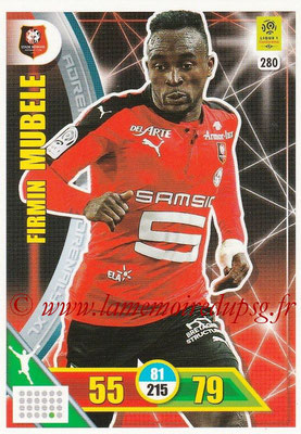 2017-18 - Panini Adrenalyn XL Ligue 1 - N° 280 - Firmin MUBELE (Rennes)