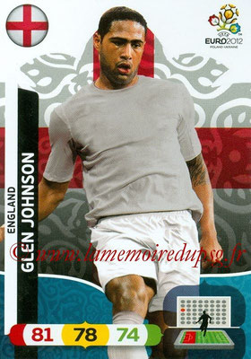 Panini Euro 2012 Cards Adrenalyn XL - N° 047 - Glen JOHNSON (Angleterre)