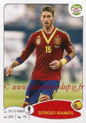 2014 - Panini Road to FIFA World Cup Brazil Stickers - N° 131 - Sergio RAMOS (Espagne)