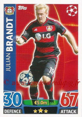 2015-16 - Topps UEFA Champions League Match Attax - N° 212 - Julian BRANDT (Bayer 04 Leverkusen)