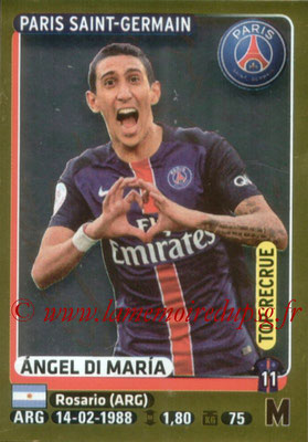 2015-16 - Panini Ligue 1 Stickers - N° 360 - Angel DI MARIA (Paris Saint-Germain) (Top Recrue)