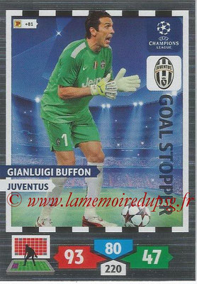 2013-14 - Adrenalyn XL champions League N° 325 - Gianluigi BUFFON (Juventus FC) (Goal Stopper)