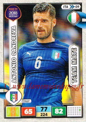 2018 - Panini Road to FIFA World Cup Russia Adrenalyn XL - N° ITA09 - Antonio CANDREVA (Italie)