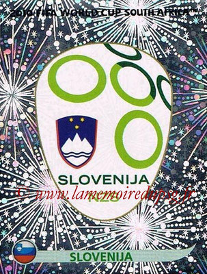 2010 - Panini FIFA World Cup South Africa Stickers - N° 240 - Logo Slovenie