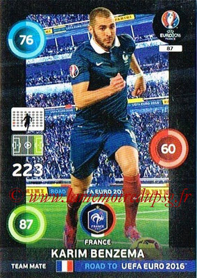Panini Road to Euro 2016 Cards - N° 087 - Karim BENZEMA (France)
