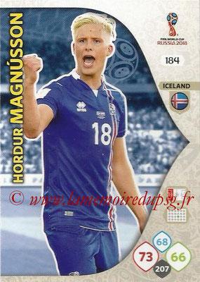 2018 - Panini FIFA World Cup Russia Adrenalyn XL - N° 184 - Johan GUDMUNDSSON (Islande)