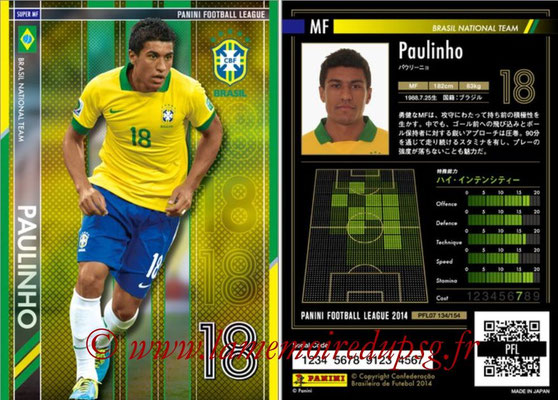 Panini Football League 2014 - PFL07 - N° 134 - PAULINHO (Bresil) (Super MF)