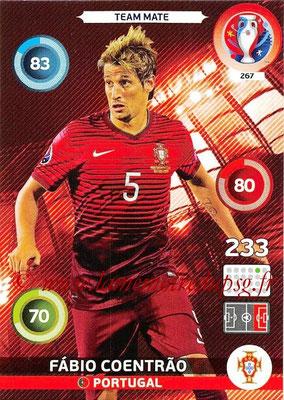 Panini Euro 2016 Cards - N° 267 - Fabio COENTRAO (Portugal)