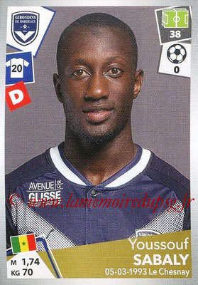 2017-18 - Panini Ligue 1 Stickers - N° 059 - Youssouf SABALY (Bordeaux)