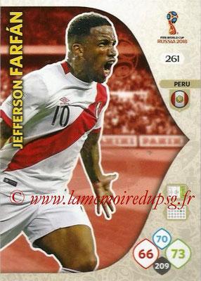 2018 - Panini FIFA World Cup Russia Adrenalyn XL - N° 261 - Jefferson FARFAN (Perou)
