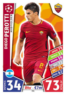 2017-18 - Topps UEFA Champions League Match Attax - N° 391 - Deigo PEROTTI (AS Roma)