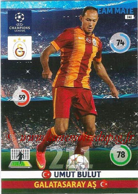 2014-15 - Adrenalyn XL champions League N° 141 - Umut BULUT (Galatasaray AS)
