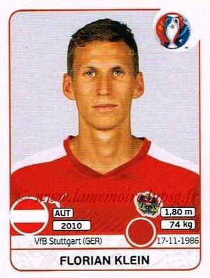 Panini Euro 2016 Stickers - N° 636 - Florian KLEIN (Autriche)