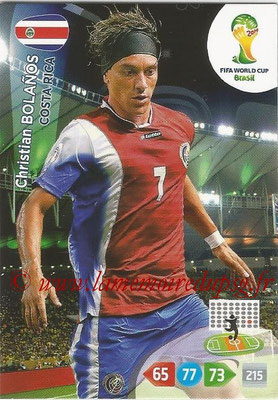 2014 - Panini FIFA World Cup Brazil Adrenalyn XL - N° 091 - Christian BOLANOS (Costa Rica)
