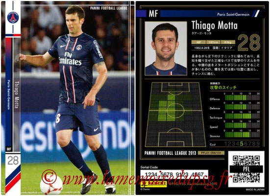 Panini Football League 2013 - PFL01 - N° 098 - Thiago Motta ( Paris Saint-Germain )