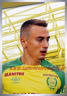 2017-18 - Panini Ligue 1 Stickers - N° 338 - Valentin RONGIER (Nantes)