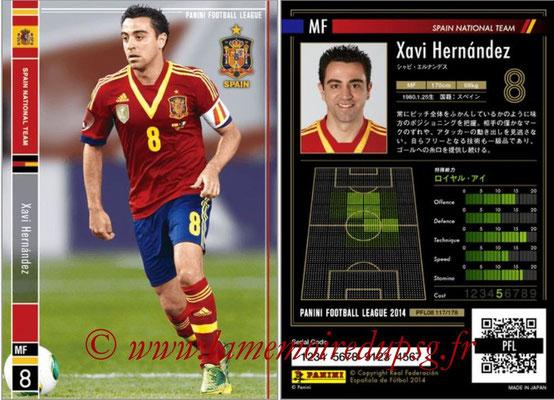 Panini Football League 2014 - PFL08 - N° 117 - Xavi HERNANDEZ (Espagne)