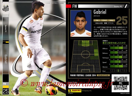 Panini Football League 2014 - PFL06 - N° 077 - GABRIEL (Santos FC) (Star)