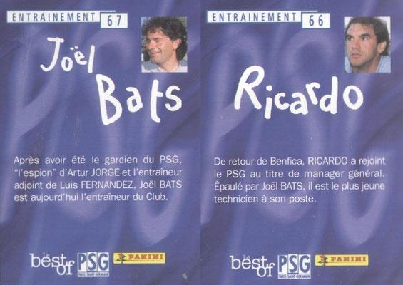 N° 066 et 067 - RICARDO et Joel BATS (Verso)