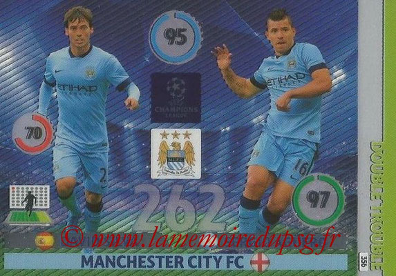 2014-15 - Adrenalyn XL champions League N° 356 - David SILVA et Sergio AGUERO (Manchester City FC) (Double Trouble)