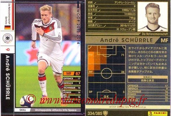 2013-14 - WCCF - N° 334 - Andre SCHURRLE (Allemagne)