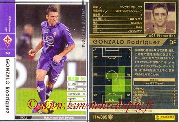 2013-14 - WCCF - N° 114 - Gonzalo RODRIGUEZ (ACF Fiorentina)
