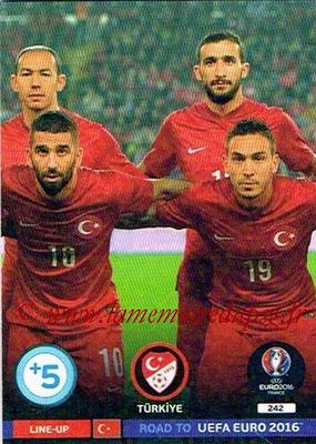 Panini Road to Euro 2016 Cards - N° 242 - Equipe Turquie 2