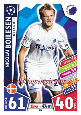2017-18 - Topps UEFA Champions League Match Attax - N° 292 - Nicolai BOILESEN (FC Copenhague)
