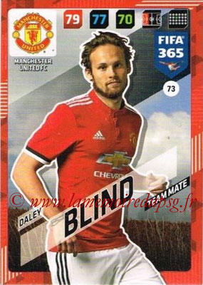 2017-18 - Panini FIFA 365 Cards - N° 073 - Daley BLIND (Manchester United)