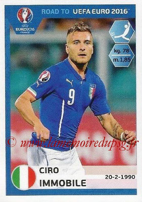 Panini Road to Euro 2016 Stickers - N° 175 - Ciro IMMOBILE (Italie)