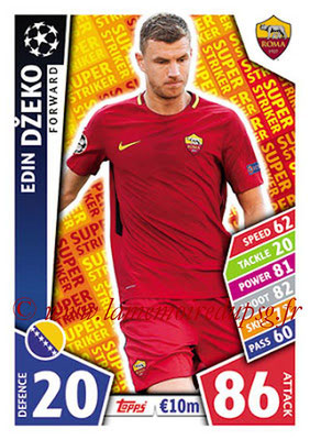2017-18 - Topps UEFA Champions League Match Attax - N° SS22 - Edin DZEKO (AS Roma) (Super Strikers)