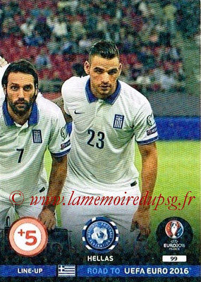 Panini Road to Euro 2016 Cards - N° 099 - Equipe Grèce 3
