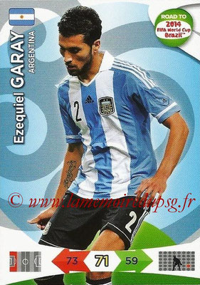 2014 - Panini Road to FIFA World Cup Brazil Adrenalyn XL - N° 003 - Ezequiel GARAY (Argentine)
