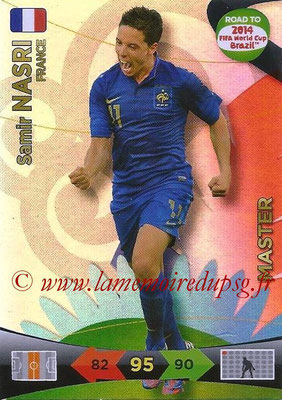 2014 - Panini Road to FIFA World Cup Brazil Adrenalyn XL - N° 227 - Samir NASRI (France) (Master)