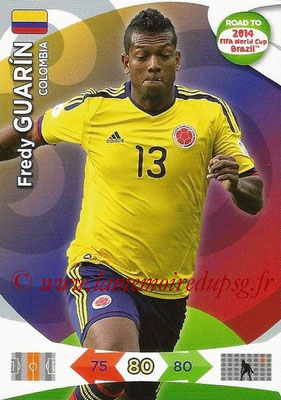 2014 - Panini Road to FIFA World Cup Brazil Adrenalyn XL - N° 033 - Fredy GUARIN (Colombie)