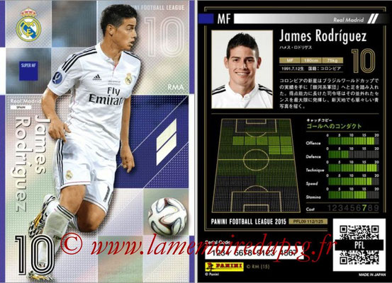 Panini Football League 2015 - PFL09 - N° 112 - James RODRIGUEZ (Real Madrid) (Super MF)
