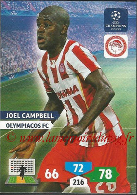 2013-14 - Adrenalyn XL champions League N° 205 - Joel CAMPBELL (Olympiacos FC)