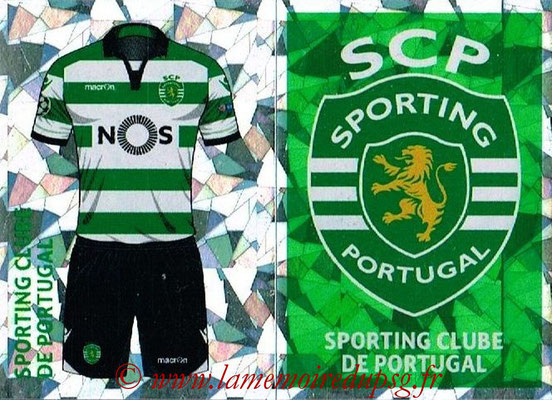 2016-17 - Topps UEFA Champions League Stickers - N° SPO 1-2 - Logo + Maillot Domicile (Sporting CP)