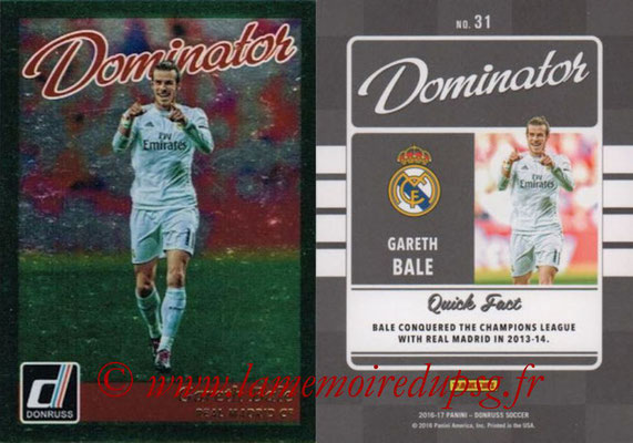 2016 - Panini Donruss Cards - N° D31 - Gareth BALE (Real Madrid CF) (Dominator)