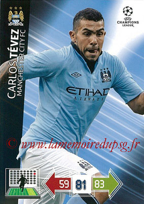 2012-13 - Adrenalyn XL champions League N° 135 - Carlos TEVEZ (Manchester City FC)