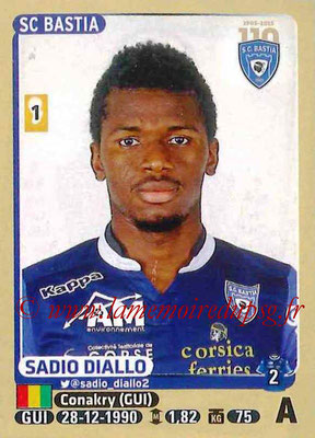 2015-16 - Panini Ligue 1 Stickers - N° 071 - Sadio DIALLO (SC Bastia)