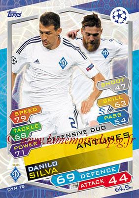 2016-17 - Topps UEFA Champions League Match Attax - N° DYN18 - ANTUNES + Danilo SILVA (FC Dynamo Kiev) (Defensive Duo)