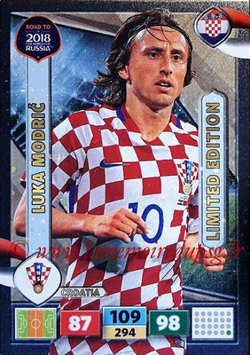 2018 - Panini Road to FIFA World Cup Russia Adrenalyn XL - N° LE-LM - Luka MODRIC (Croatie) (Limited Edition)
