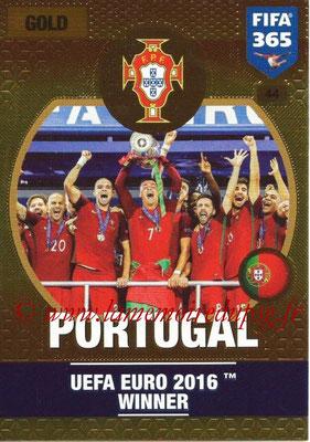 2016-17 - Panini Adrenalyn XL FIFA 365 - N° 044 - PORTUGAL (Vainqueur EURO 2016)