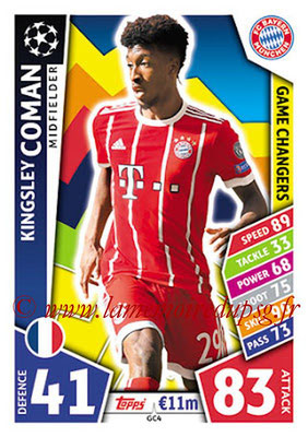 2017-18 - Topps UEFA Champions League Match Attax - N° GC04 - Kingsley COMAN (FC Bayern Munich) (Game Changers)
