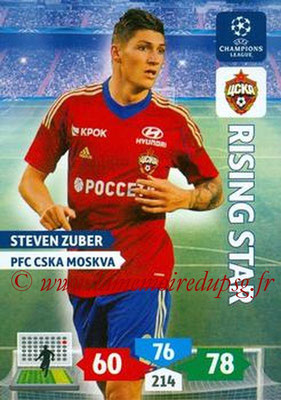 2013-14 - Adrenalyn XL champions League N° 134 - Steven ZUBER (PFC CSKA Moscou)  (Rising Star)